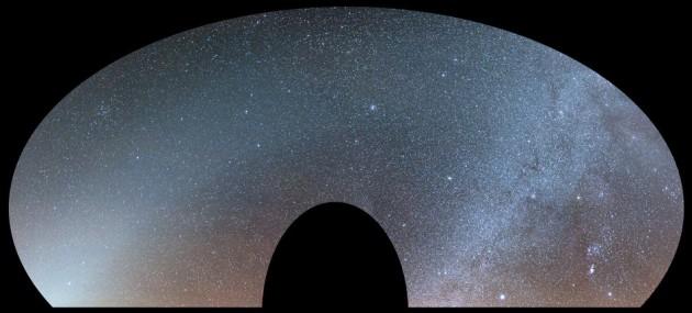 Zimowe swiatlo zodiakalne nad Bukowym Berdem, fot. Pavol Ďuriš