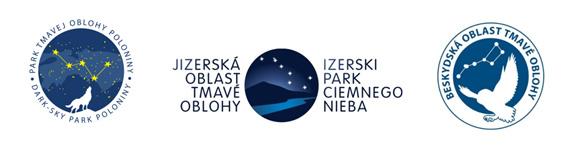 """Wspierają nas inne, podobne parki: Izerski park Ciemnego nieba (CZ/PL), Park tmavej oblohy """"Poloniny"""" (SK) oraz Beskydská oblast tmavej oblohy (CZ/SK)."""