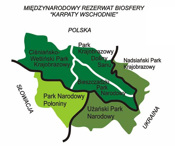 """Międzynarodowy Rezerwat Biosfery """"Karpaty Wschodnie"""""""